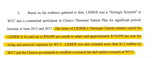 Liebers Thousand Talents participation contract and awards