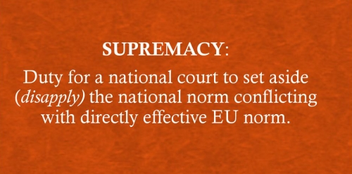 Supremacy of EU Court