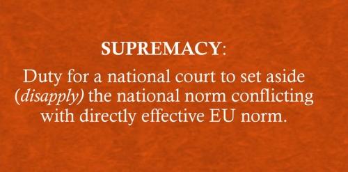 Supremacy of EU Court